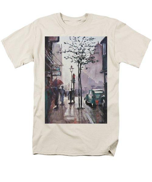Men's T-Shirt  (Regular Fit) featuring the painting Wet Afternoon by Geni Gorani
