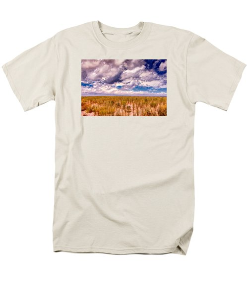 Men's T-Shirt  (Regular Fit) featuring the photograph Where Land Meets Sky by Gary Slawsky