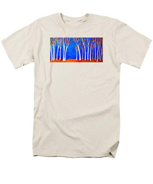 Whimsical Birch Trees Men's T-Shirt  (Regular Fit) by Haleh Mahbod