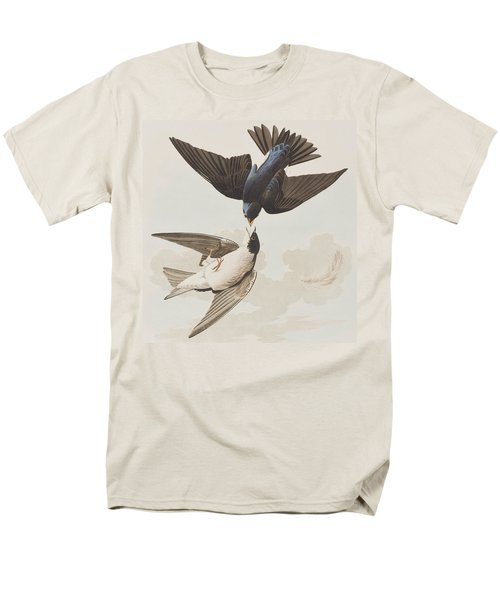 White-bellied Swallow Men's T-Shirt  (Regular Fit) by John James Audubon