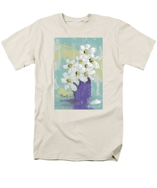 White Flowers Men's T-Shirt  (Regular Fit) by P J Lewis