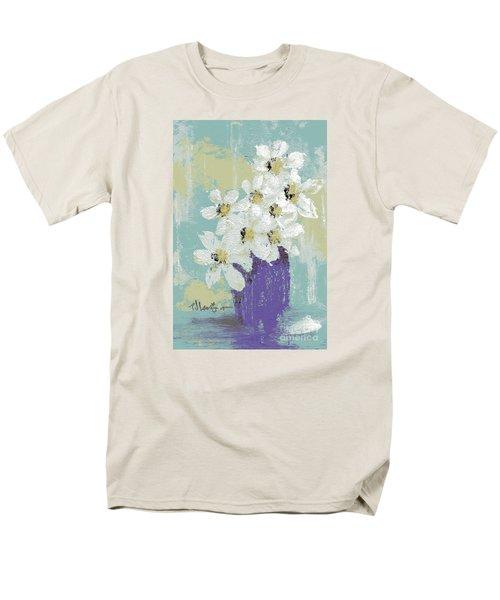 White Flowers Men's T-Shirt  (Regular Fit)