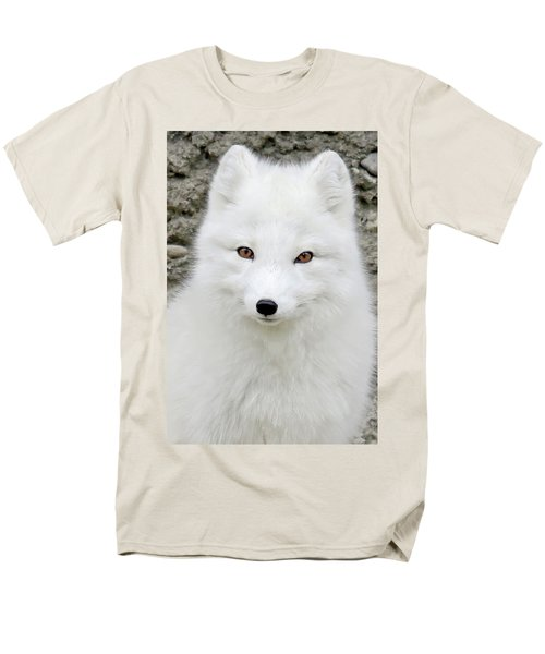 White Fox Men's T-Shirt  (Regular Fit) by Athena Mckinzie