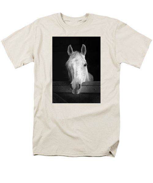 Men's T-Shirt  (Regular Fit) featuring the photograph White Horse by Marion Johnson