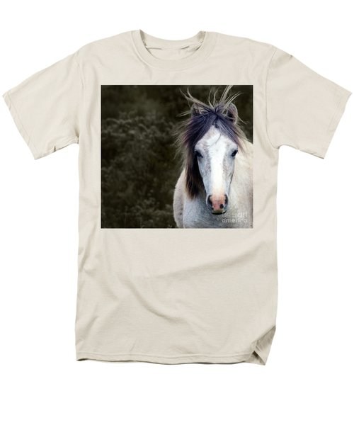 White Horse Men's T-Shirt  (Regular Fit)