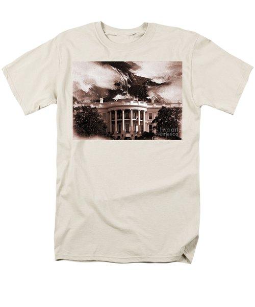 White House Washington Dc Men's T-Shirt  (Regular Fit) by Gull G
