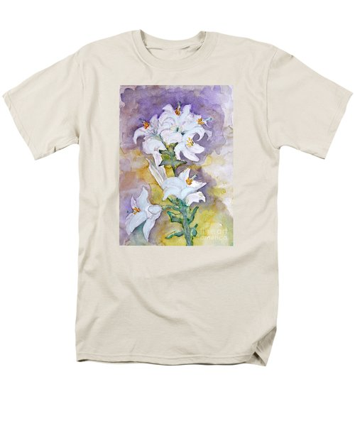 White Lilies Men's T-Shirt  (Regular Fit) by Jasna Dragun