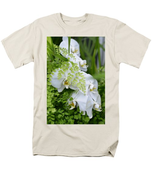 White Orchids Men's T-Shirt  (Regular Fit) by Ronda Broatch