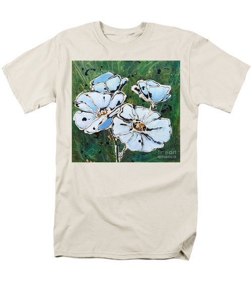 White Poppies Men's T-Shirt  (Regular Fit) by Phyllis Howard