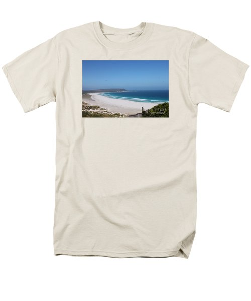 White Sand Beach Men's T-Shirt  (Regular Fit) by Bev Conover