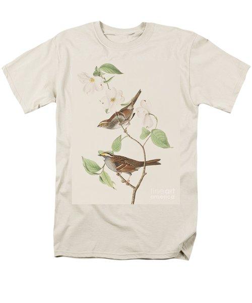 White Throated Sparrow Men's T-Shirt  (Regular Fit) by John James Audubon