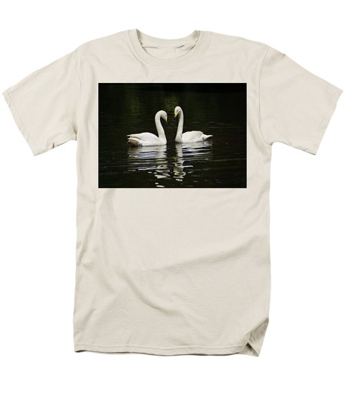 Men's T-Shirt  (Regular Fit) featuring the photograph Whooper Swans by Sandy Keeton