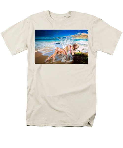 Men's T-Shirt  (Regular Fit) featuring the photograph Whoops  ...  Marylin by Glenn Feron