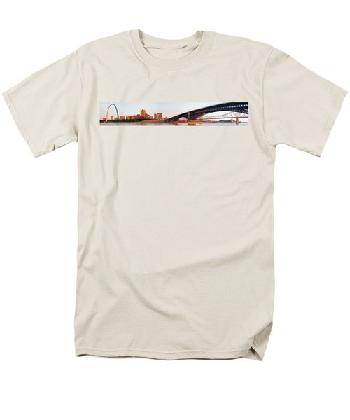 Wide View Of St Louis And Eads Bridge Men's T-Shirt  (Regular Fit) by Semmick Photo