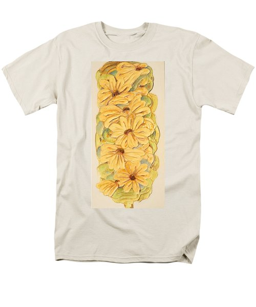 Wild Flower Abstract Men's T-Shirt  (Regular Fit) by Theresa Marie Johnson
