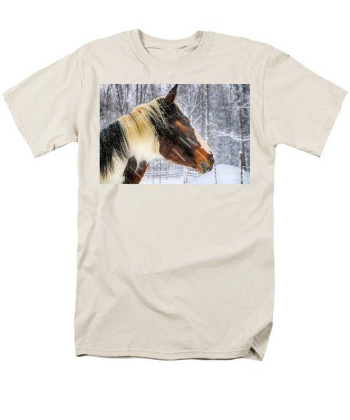 Wild Winter Storm Men's T-Shirt  (Regular Fit) by Elizabeth Dow