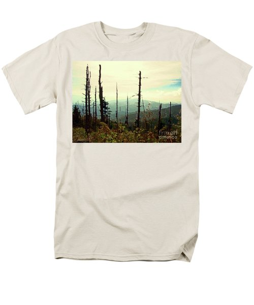 Men's T-Shirt  (Regular Fit) featuring the mixed media Wildfire by Desiree Paquette
