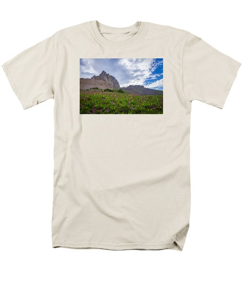 Men's T-Shirt  (Regular Fit) featuring the photograph Wildflowers In The Grand Tetons by Serge Skiba