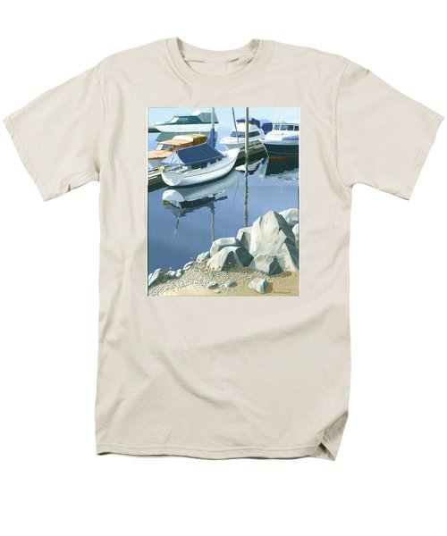 Wildflowers On The Breakwater Men's T-Shirt  (Regular Fit) by Gary Giacomelli