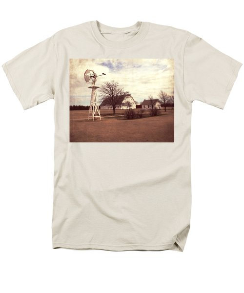 Men's T-Shirt  (Regular Fit) featuring the photograph Windmill At Cooper Barn by Julie Hamilton