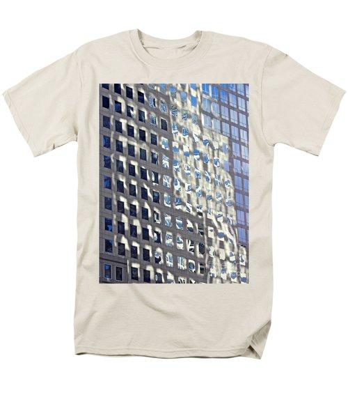 Men's T-Shirt  (Regular Fit) featuring the photograph Windows Of 2 World Financial Center 2 by Sarah Loft