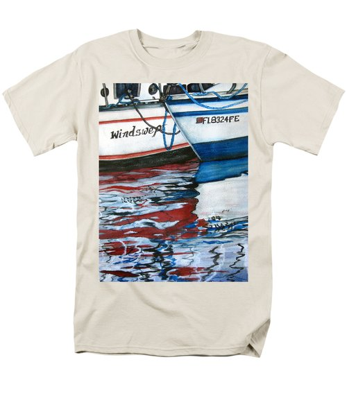 Men's T-Shirt  (Regular Fit) featuring the painting Windswept Reflections Sold by Lil Taylor