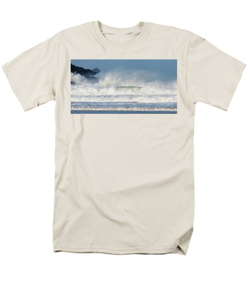 Men's T-Shirt  (Regular Fit) featuring the photograph Windy Seas In Cornwall by Nicholas Burningham