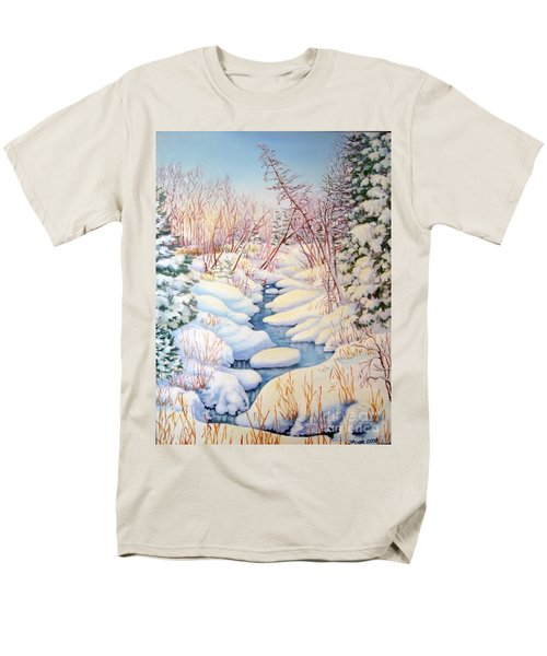 Winter Creek 1  Men's T-Shirt  (Regular Fit) by Inese Poga