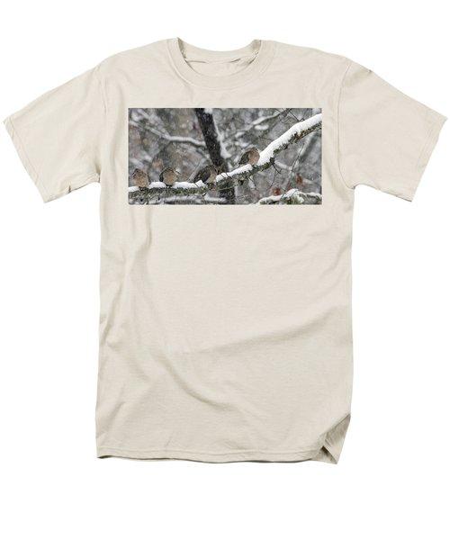 Winter Doves Men's T-Shirt  (Regular Fit) by Diane Giurco