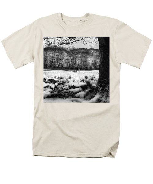 Men's T-Shirt  (Regular Fit) featuring the photograph Winter Dreary Square by Bill Wakeley