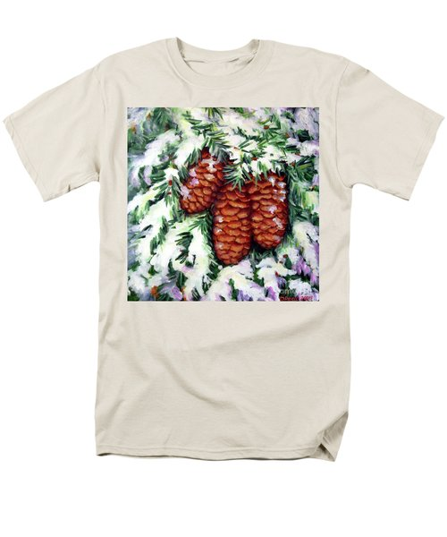 Winter Fir Cones Men's T-Shirt  (Regular Fit) by Inese Poga