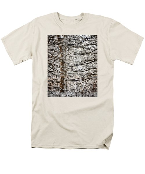 Men's T-Shirt  (Regular Fit) featuring the photograph Winter In The Woods by Nikki McInnes