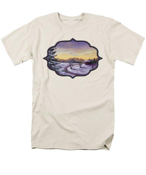 Winter In Vermont Men's T-Shirt  (Regular Fit) by Anastasiya Malakhova