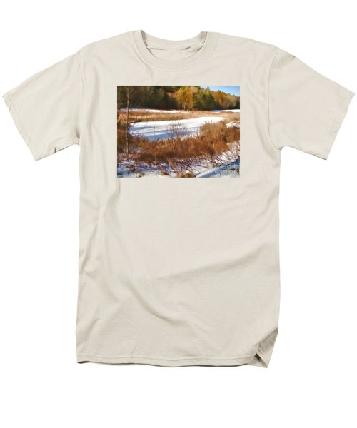 Men's T-Shirt  (Regular Fit) featuring the photograph Winter Marsh by Betsy Zimmerli