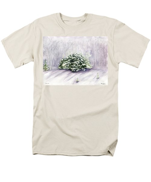 Men's T-Shirt  (Regular Fit) featuring the painting Winter Wind by Melly Terpening