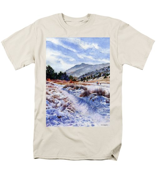 Men's T-Shirt  (Regular Fit) featuring the painting Winter Wonderland by Anne Gifford
