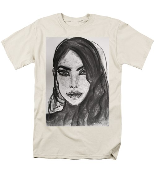 Men's T-Shirt  (Regular Fit) featuring the painting Wintertime Sadness by Jarko Aka Lui Grande