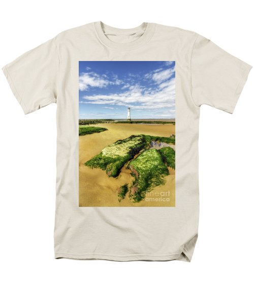 Men's T-Shirt  (Regular Fit) featuring the photograph Wirral Lighthouse by Ian Mitchell