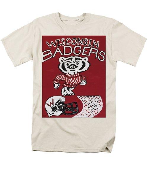 Wisconsin Badgers Men's T-Shirt  (Regular Fit) by Jonathon Hansen