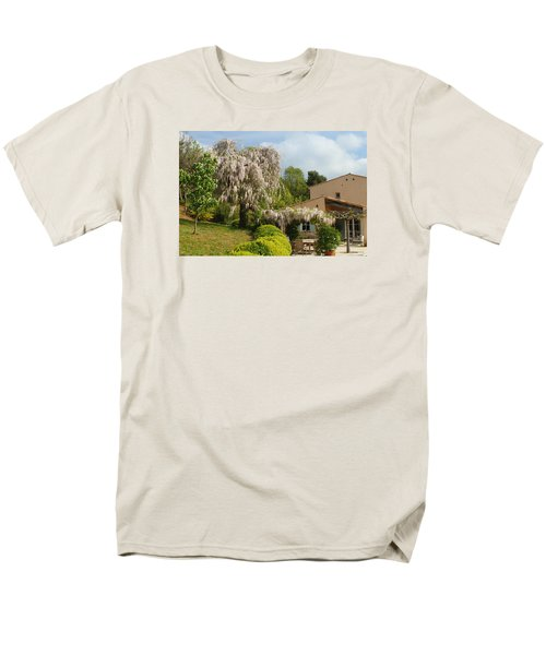 Men's T-Shirt  (Regular Fit) featuring the photograph Wisteria by Richard Patmore