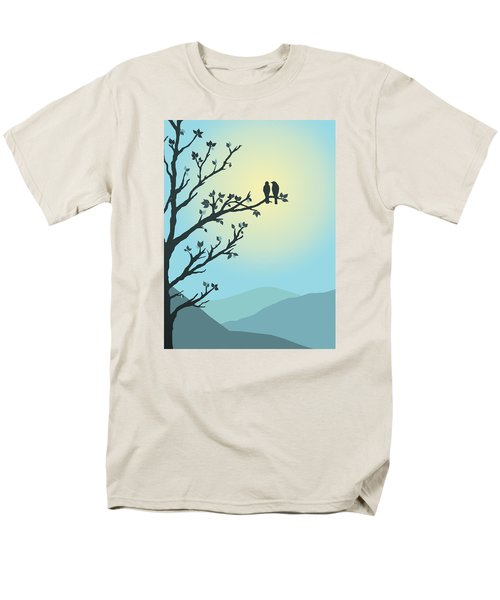 With You By My Side Men's T-Shirt  (Regular Fit) by Christina Lihani