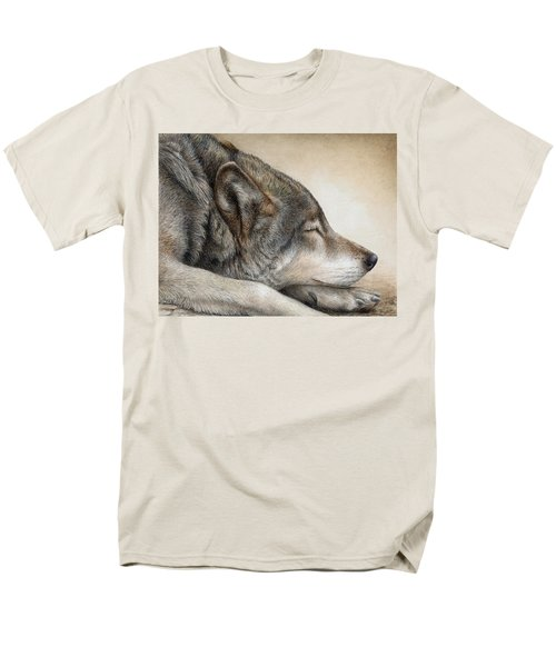 Wolf Nap Men's T-Shirt  (Regular Fit) by Pat Erickson