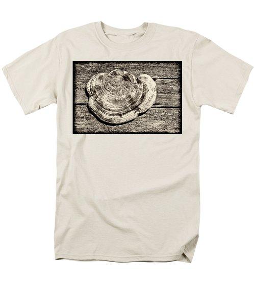 Men's T-Shirt  (Regular Fit) featuring the photograph Wood Decay Fungi, Nagzira, 2011 by Hitendra SINKAR
