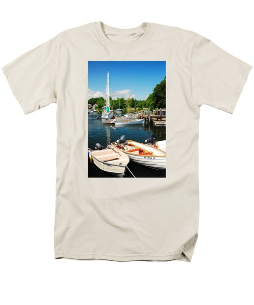 Men's T-Shirt  (Regular Fit) featuring the photograph Woods Hole Harbor by James Kirkikis
