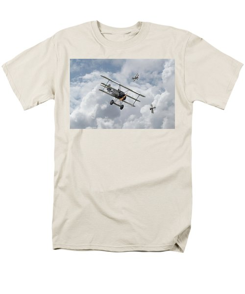 Men's T-Shirt  (Regular Fit) featuring the photograph Ww1 - Fokker Dr1 - Predator by Pat Speirs