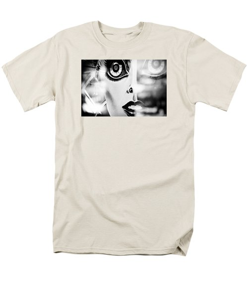 Xenon - Black And White Men's T-Shirt  (Regular Fit) by Colleen Kammerer
