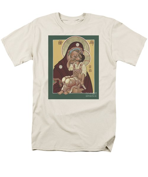 Men's T-Shirt  (Regular Fit) featuring the painting Yakhrom Icon Of The Mother Of God 258 by William Hart McNichols