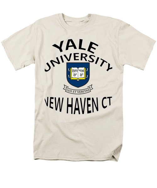 Yale University New Haven Connecticut  Men's T-Shirt  (Regular Fit) by Movie Poster Prints