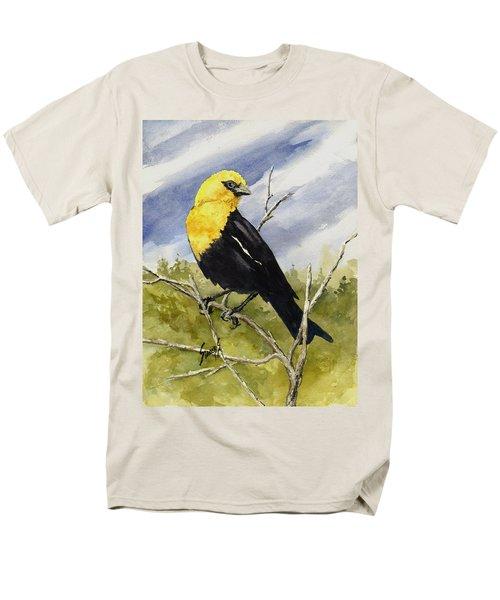 Yellow-headed Blackbird Men's T-Shirt  (Regular Fit) by Sam Sidders