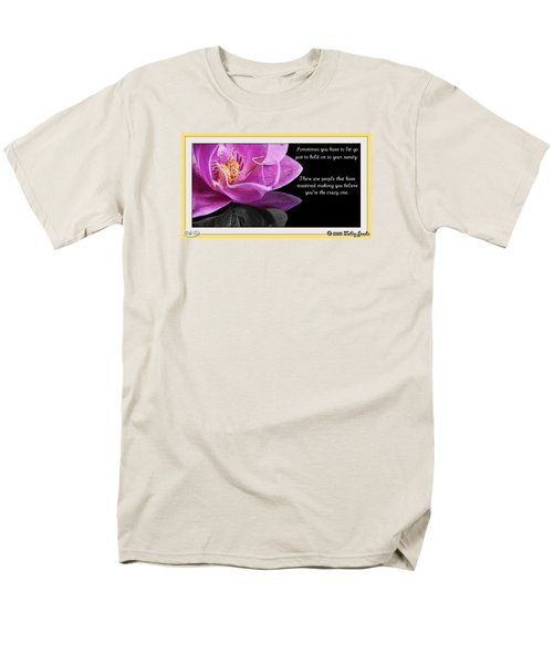 Men's T-Shirt  (Regular Fit) featuring the digital art You Have To Let Go by Holley Jacobs